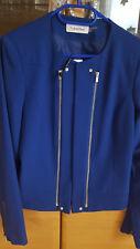 Calvin Klein Jacke Blazer Jacket blau royalblau 12 40 hoher Neupreis Luxus Neu