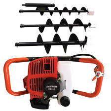 "52CC 2-Stroke Gas Powered Post Earth Hole Auger Digger Borer +4"",6"",8"" Bits"