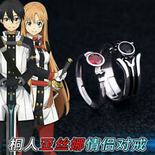 Sword Art Online Yuuki Asuna Kirito Anime Adjustable Sterling Silver Ring Gift