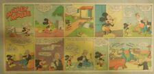 Mickey Mouse Sunday Page by Walt Disney from 11/28/1943 Third Page Size