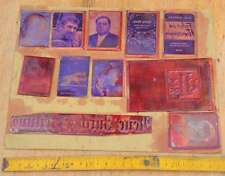 Konvolut Klischees Druckplatten Druckerei Drucker Handsatz letterpress plates