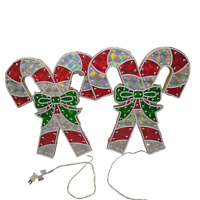 Christmas Light Up Candy Canes Holographic Looking Lights Don't Work