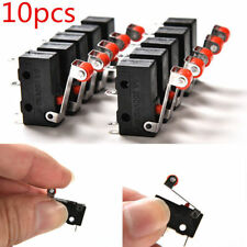 10Pcs Universal Micro Roller Lever Arm Normally Open Close Limit Switch KW12-3