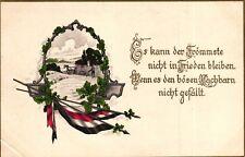 """Spruchkarte, """"Es kann der Frömmste nicht in Frieden bleiben...."""", um 1915"""