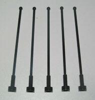 Lego ® Lot x5 Grande Antenne H8 Noir Black Antenna ref 2569