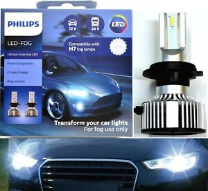 Philips Ultinon LED 40W 6500K White H7 Two Bulbs Fog Light Replacement Upgrade