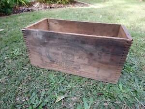 Vintage Explosives crate wood box Gelignite Alfred Nobel rustic