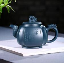 China 100% Yixing ZiSha Pottery Green Ni hand made dragon kylin tea pot 430CC