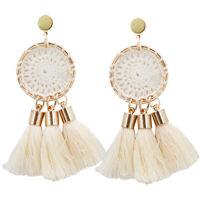 Boho Stud Fashion Bohemian Earrings Jewelry Long Tassel Fringe Women Drop Dangle