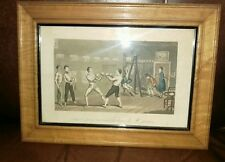 "Rare 1880s  Boxing Lithograph ""Tom et Jerry recevant Des becoms M. Jackson"""