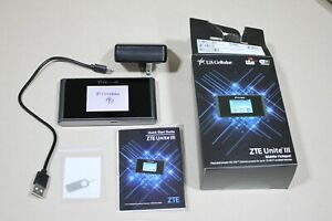 Mobile Hotspot by ZTE Unite Ill US Cellular Mf975u 4g LTE Exc Cond