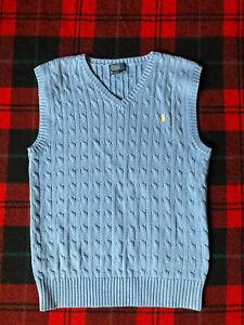 Boy's POLO Ralph Lauren Cable- Knit Sweater Vest!  BOYS- Size XL (18-20)