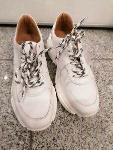 NEU***Jolana FENENA **weißer Sneaker außen u. innen Leder ** Größe 39 / 6