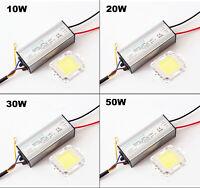LED CHIP+DRIVER POWER 10W 20W 30W 50W 100W Bianco Alta Luminosità impermeabile