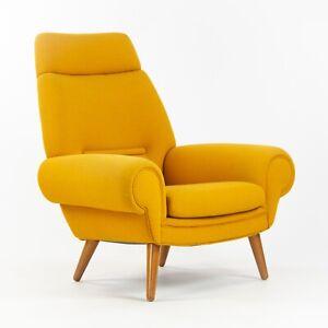 1960's Vintage Kurt Østervig Yellow Upholstered Lounge Chair for Ryesberg Mobler
