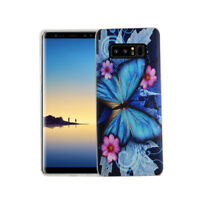 Case For Samsung Galaxy Note 8 Butterfly Blau Case Cover Slim