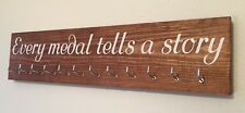 Running/Sports Medal Hanger. 12 hook. Indian Rosewood. Every Medal Tells A Story