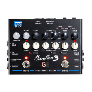 EBS MicroBass 3 2-Channel Analog Outboard Bass Guitar Preamp Effects Pedal