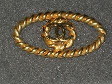 CHANEL  authentic under 2 '' x 1'' GOLD CC LOGO CHARM PENDANT  VINTAGE