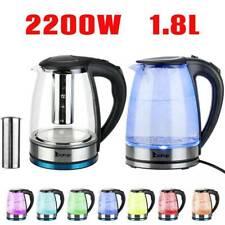 2200W Illuminated Glass Kettles LED Cordless 1.8L Electric Jug Portable UK HD-A