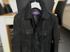 RALPH LAUREN Purple Label Military Safari Jacket Linen Size M (48 50 black RLPL)