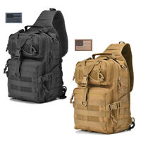 Tactical Sling Bag Military Rover Shoulder Sling Pack Molle Assault Range Bag