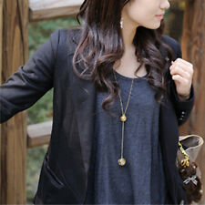 Fashion Women Jewelry Hollow Double Ball Pendant Long Sweater Chain Necklace Hot