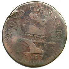 1787 64-u R-5 New Jersey Colonial Copper Coin