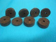"""50 pcs   burnt dark  cork rings  (1-1/4"""" x 1/4"""" x 1/4 bore)"""