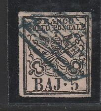 FRANCOBOLLI 1852 STATO PONTIFICIO 5 BAJ C/3211