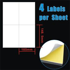 200 Sheets 10.5x14.8cm 4 Labels per Page Quality A4 Label Laser Inkjet