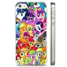 My Little Pony Colourful Collage CLEAR PHONE CASE COVER fits iPHONE 5 6 7 8 X