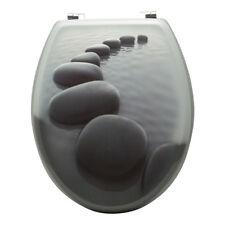 Grafner WC Sitz aus MDF Motiv Black Stone Toilettendeckel