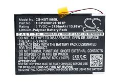 """Battery for Nuvision Nuvision 10.1"""", TM1088C Replacement 1ICP3/90/128 1S1P"""