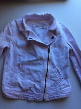 Girls Abercrombie And Fitch Light Pink Denim Jean Biker Jacket