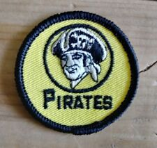 "Vintage 1970's Pittsburgh Pirates  Logo Patch Sleeve MLB Baseball 2""  NOS"