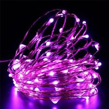 "84"" Purple Fairy LED Lights Garland Battery Wedding Centerpieces Decoration SALE"