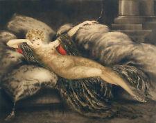 Icart Louis Golden Veil Print 11 x 14  #4086