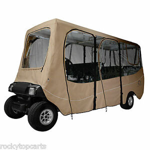 Classic Accessories 6 Passenger Deluxe Golf Cart Enclosure Cover Extra Long Top