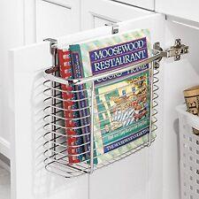 New Kitchen & Office Cabinet Storage Organiser Basket, Cupboard Door Tidy Holder