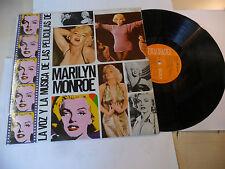 """MARILYN MONROE""""LA VOZ Y LA MUSICA -disco 33 giri RCA Es 1978"""" OST-SEXY"""