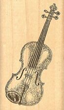 Violin Musical Instrument, Wood Mounted Rubber Stamp JUDIKINS - NEW, 2273E