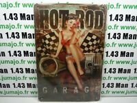 PA132F PLAQUES TOLEE vintage 20 X 30 cm : Pin'up Hot-Rod Garage