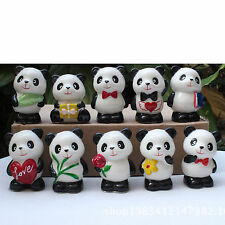 10 Mixed Cute Ceramic Giant Panda Ornaments Home Decor Mini Crafts gift