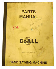 Doall 2013-1 and 2013-10, Vertical Band Saw 50 page Parts Manual
