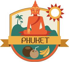 "Phuket Thailand World City Travel Label Badge Car Bumper Sticker Decal 5"" x 5"""