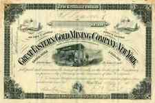 1887 Great Eastern Gold Mining Stock Certificate