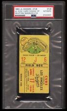 1966 LA Dodgers Baseball Ticket - Sandy Koufax 1st Win of Final Season -Win#139