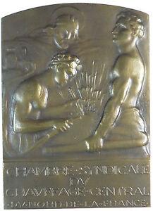 Heating CHAMBRE SYNDIC. DU CHAUVAGE CENTRAL DU NORD DE LA FRANCE bronze 59x 82mm