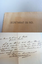 Brief STOCKHOLM 1881: Sekretär des Königs PRINTZSKÖLD an Gebrüder Paetel Verlag